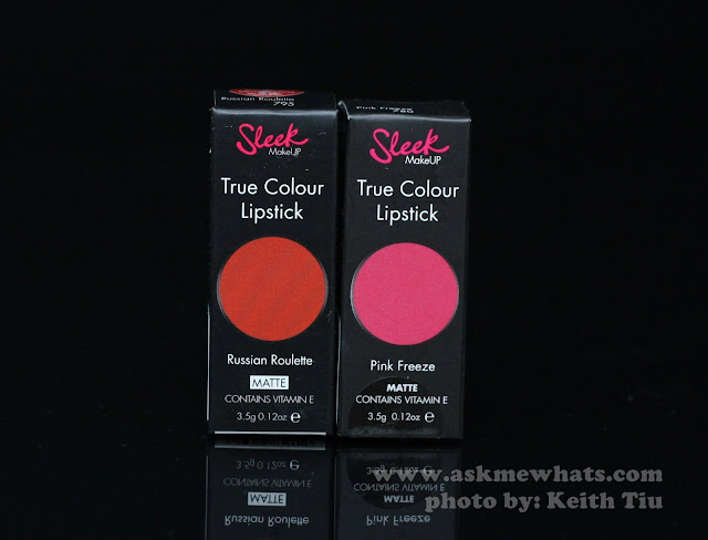 A photo of Sleek True Colour Lipsticks in Russian Roulette and Pink Freeze