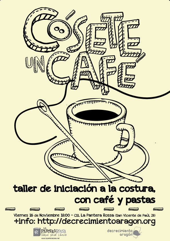 Decrecimiento c sete un caf taller de iniciaci n a la for Taller de costura madrid