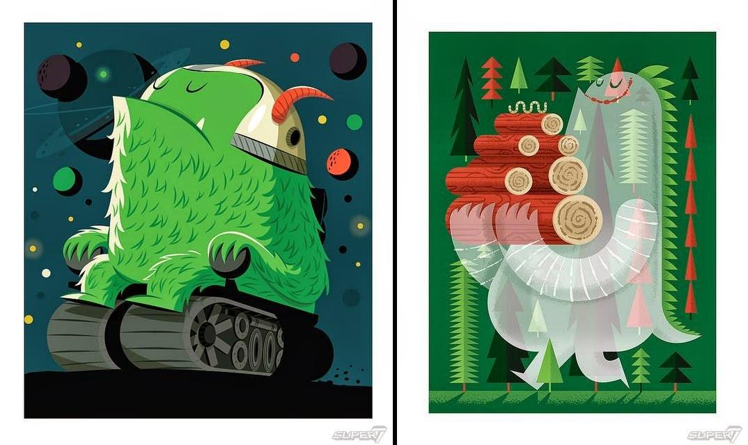 """Colonel Stinson & """"Wormwood"""" Leroy C. Prints Super7 x Invisible Creature"""