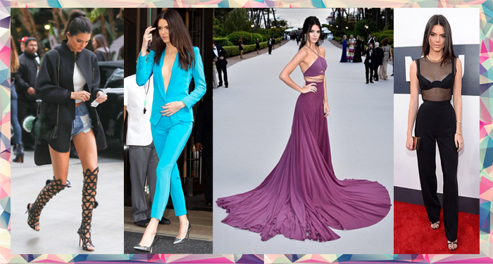 Kendall Jenner shows off her personal style in gladiators, shorts, fitted suits and blazers and gowns at red carpet appearences