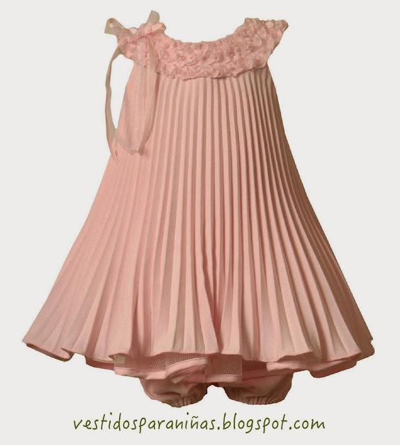 Vestido para niña de 1 a 5 años - Vestido de verano sin mangas fresco color melón con listón al costado - Vestido para ceremonias
