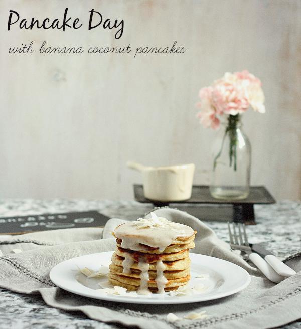 Pancakes kokosowo - bananowe