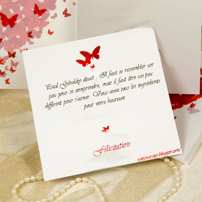texte carte mariage
