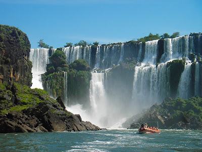 Iguazu falls of Argentina Brazil