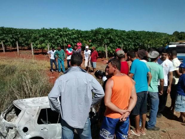 Perícia foi realizada na manhã desta quinta-feira (27) (Foto: Fabiano Neves/Site: Destaque Bahia)