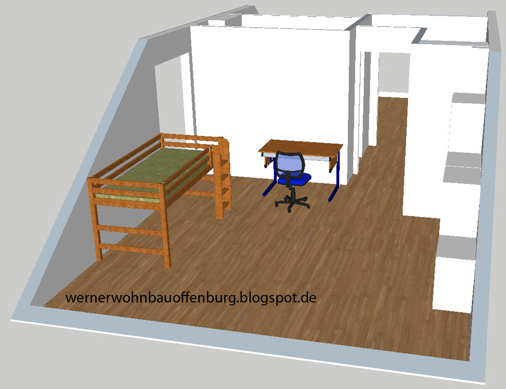 reihenhaus von werner wohnbau in offenburg laminat l ngs. Black Bedroom Furniture Sets. Home Design Ideas