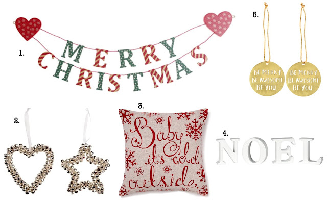 Festive Homeware & Christmas Decorations Collage 1
