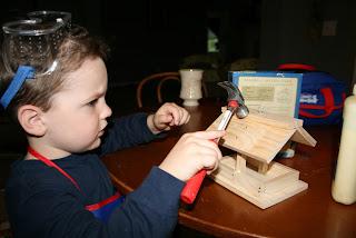 Montessori homeschool wood working toddler