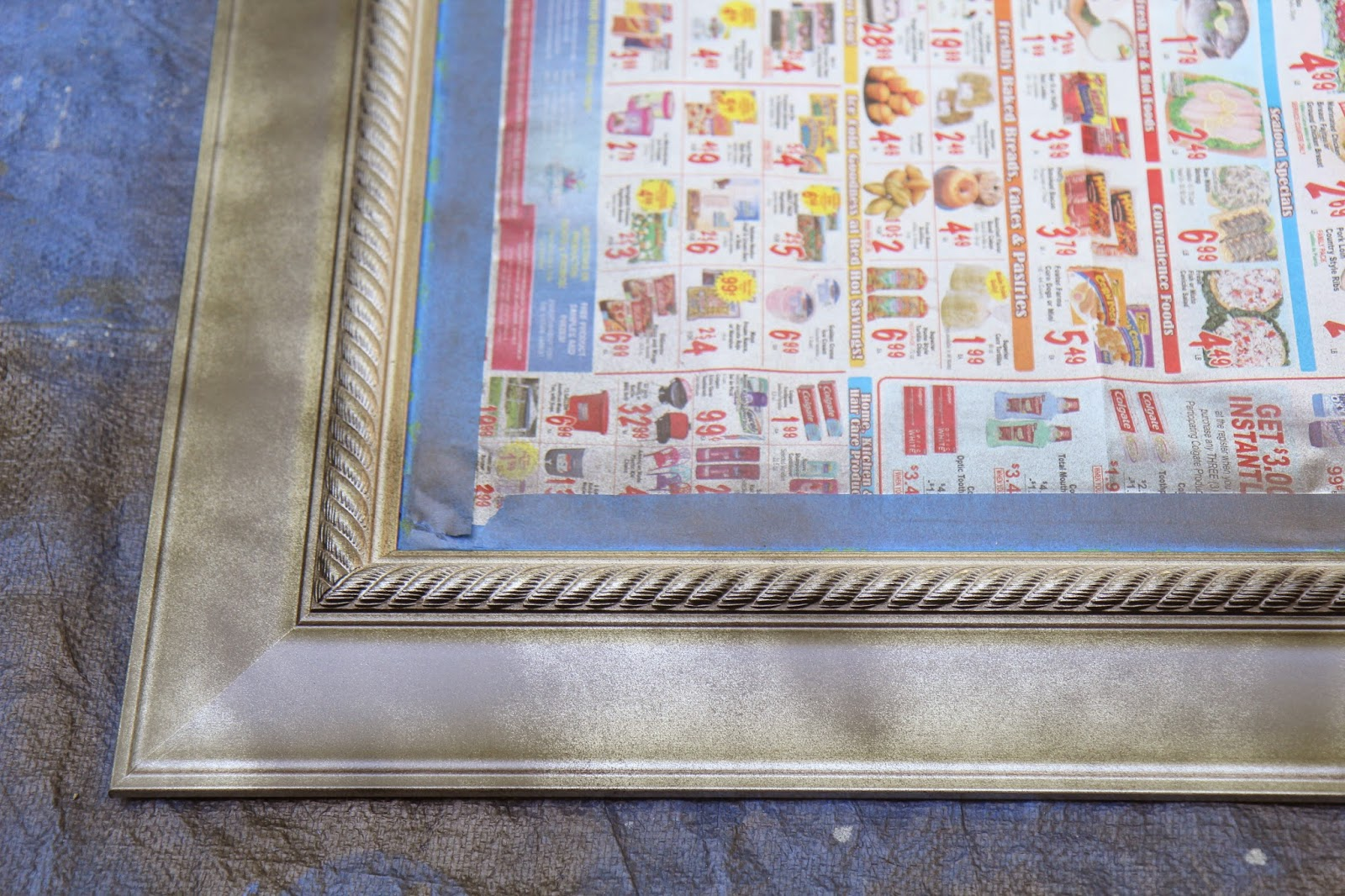 Paint the frame detail with dark color; Transform a Frame from New to Antique; Nora's Nest