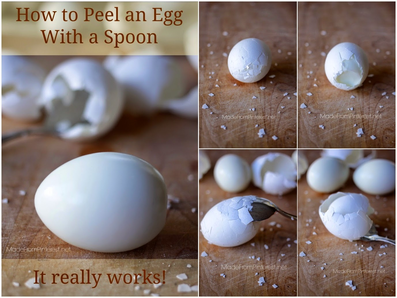 How To Peel an Egg With a Spoon