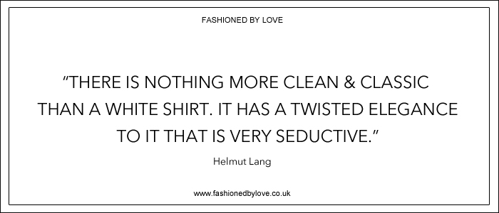 via fashioned by love | best fashion & style quotes | Helmut Lang