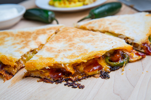 BBQ Chicken and Pineapple Quesadillas on Closet Cooking