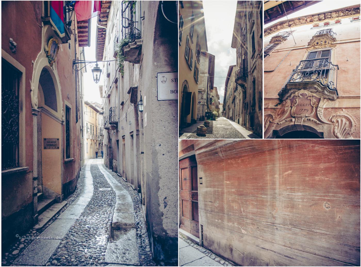 Collage mit Stadtansichten der alten Häuser San Giulios