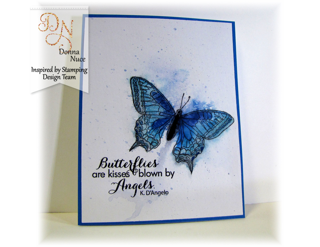 Inspired by Stamping, Crafty Colonel Donna Nuce, Butterflies Stamp Set, Watercolor Card