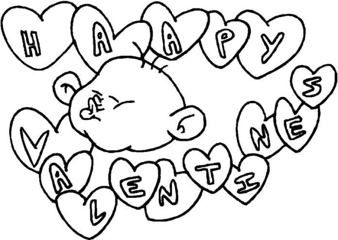 Muchos corazones de san valentin para colorear | Dibujos para ...