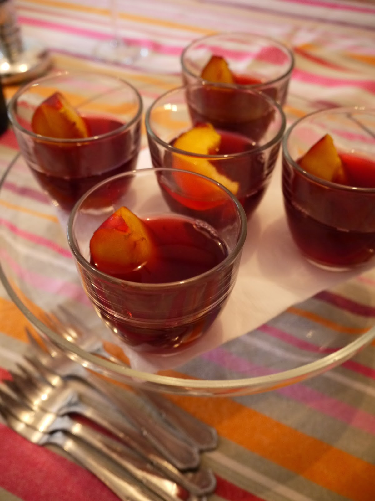 Sicilian peach in wine by Appetit Voyage