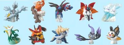 Pokemon Clipping Figure BW3 Bandai