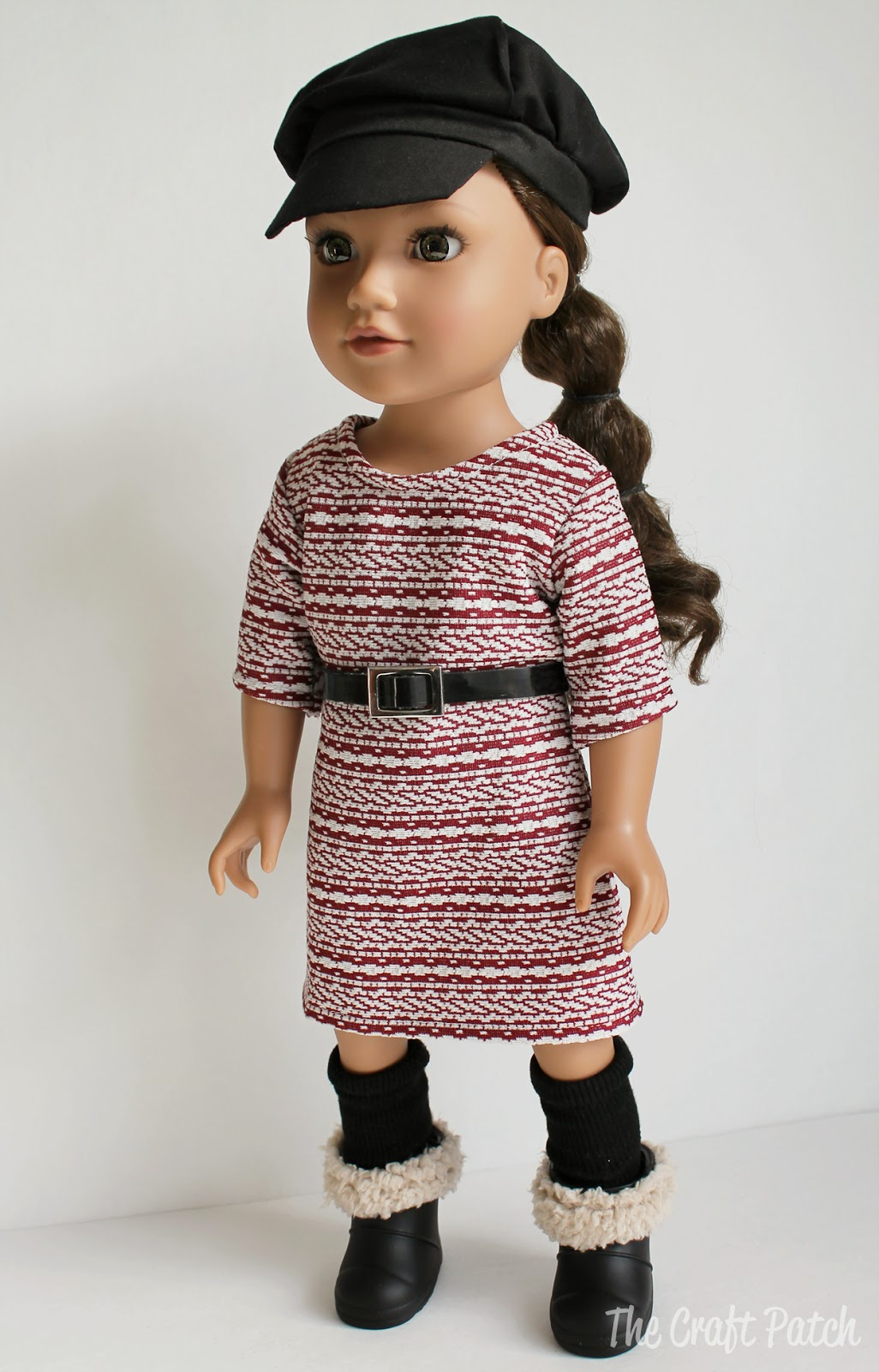 Simple Knit Dress Pattern : The Craft Patch: American Girl Doll Basic Knit Dress Pattern and Tutorial