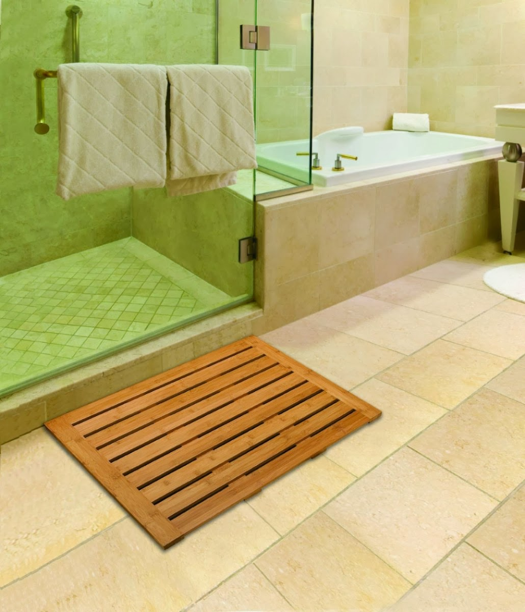 Puertas De Fuelle Para Un Baño:Tapetes-Madera-Para-Salida-De-Bao-Tarimas-Ducha-Teca-Ipe