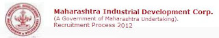 MIDC Recruitment 2012 - 2013 Apply Online