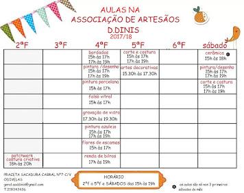 HORÁRIOS AULAS 2017/18