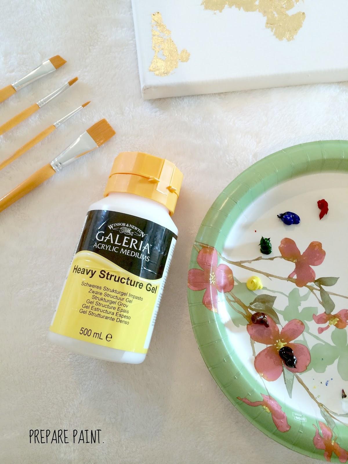 How To Make DIY Gold Leaf Abstract Art | LiveLoveDIY ... - photo #25
