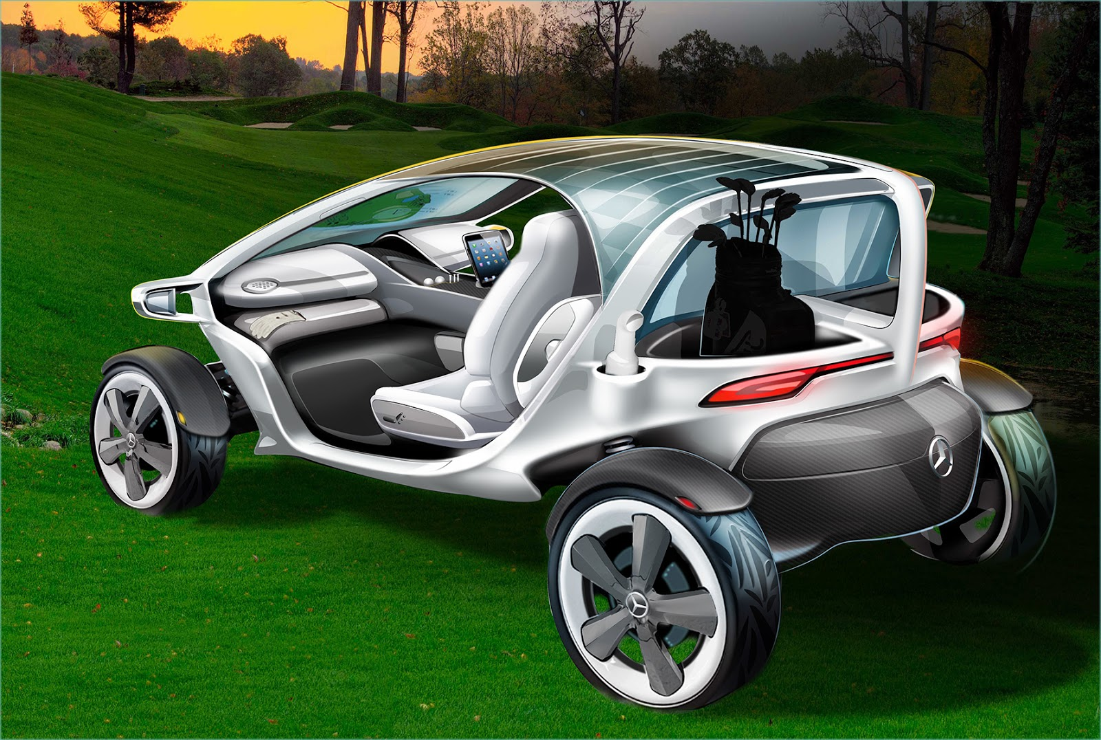 voiture du futur la voiture de golf de demain selon mercedes. Black Bedroom Furniture Sets. Home Design Ideas