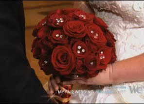 David Tutera's My Fair Wedding Phantom episode bride bouquet.