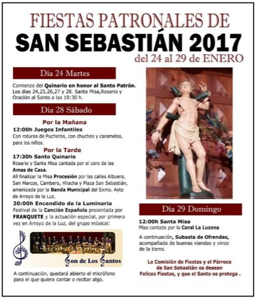 ÚLTIMAS NOTICIAS: Concierto en la Parroquia San Sebastián de ARROYO DE LA LUZ -Cáceres : 28/01/2017