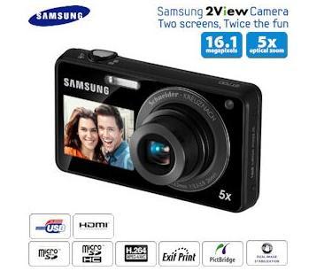 16 Megapixel Digitalkamera Samsung ST700 mit 2 Bildschirmen und Touchscreen für 165,90 Euro