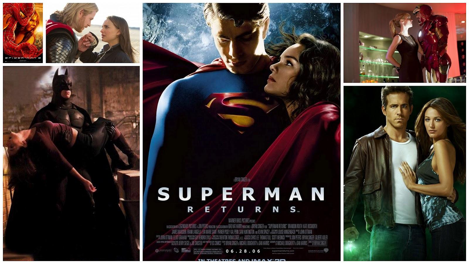 From Top Down Left To Right Spiderman Thor Batman Begins Superman Returns Iron Man 2 Green Lantern