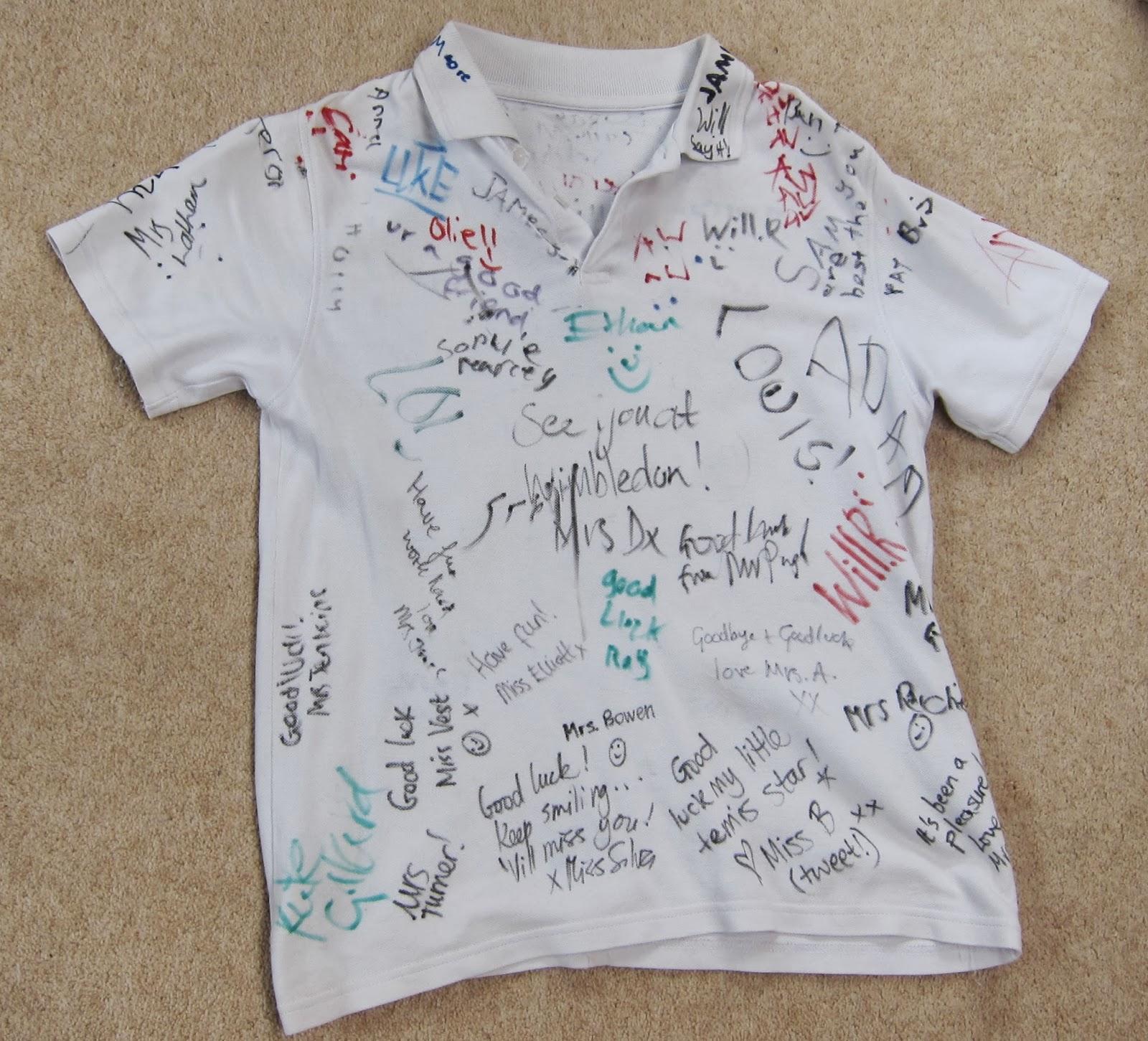 イギリスの小学校 ポロシャツの制服 息子へクラスメイトからの卒業メッセージ