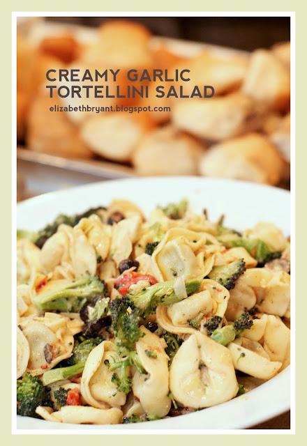 lizzy write: tortellini pasta salad