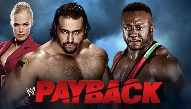 rusev lucha contra big e en un combate explosivo en el gran show de pago por ver Payback