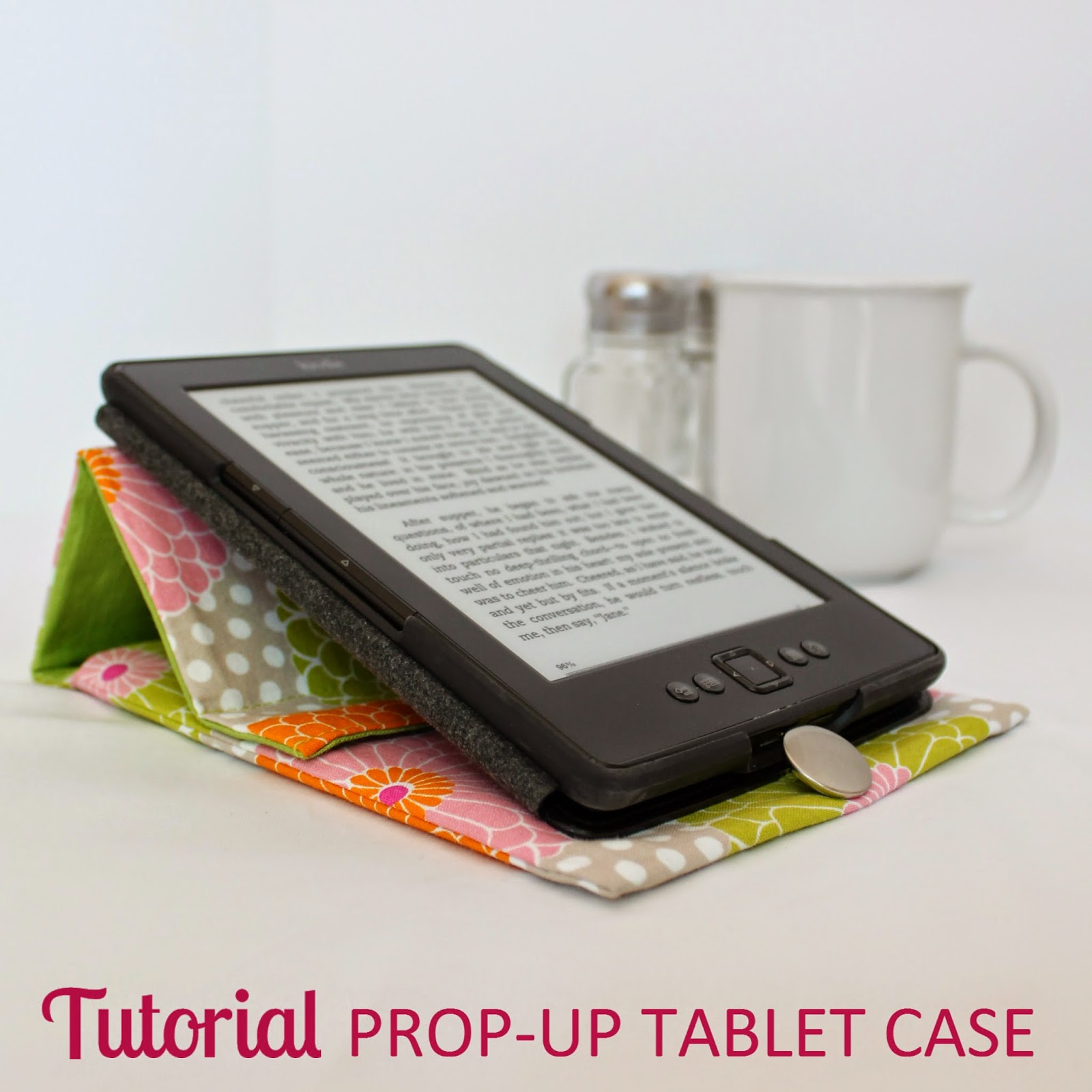 TUTORIAL: Prop-Up Tablet Case | Step-by-step directions how to sew an envelope case custom fit for any size tablet with a prop-up stand built right into the flap. | The Inspired Wren