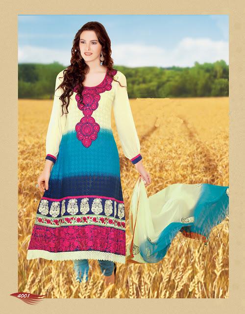 Pakistani full length Designer Salwar Kameez With Exclusive Full Sleeve Work