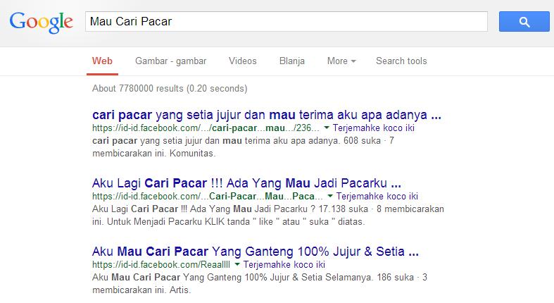 cara mengatur hasil pencarian di google