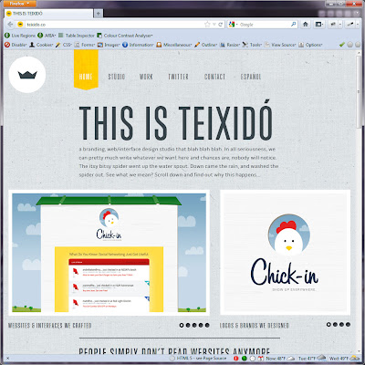 Screen capture of http://teixido.co/.