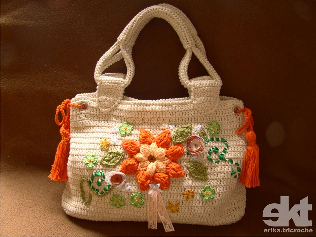 Crochet Patterns For Bags : bag patterns model-Knitting Gallery
