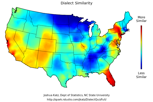 Chris Allens Spectacularly Mediocre Blog Dialect Map - Us dialect map quiz