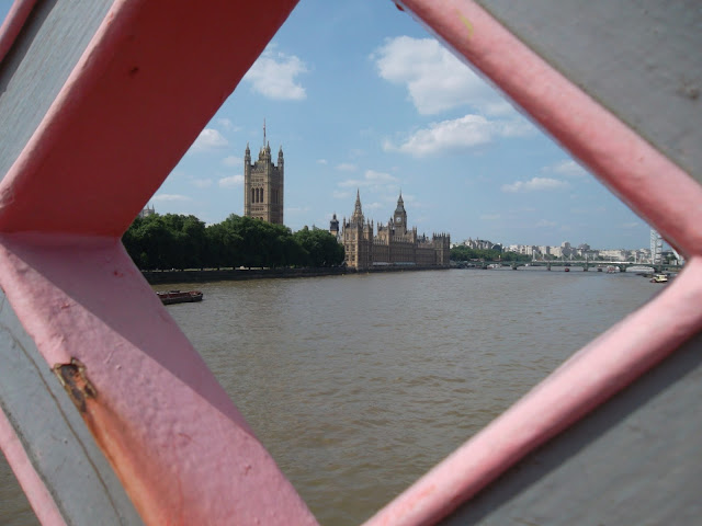 Houses of Parliament London as seen through Lambeth Bridge