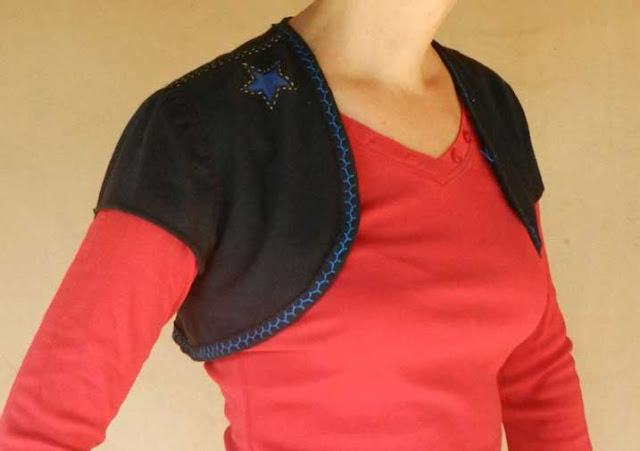 Alabama Chanin, bolero, refashioned t-shirts,