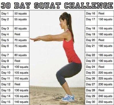 30 days squat challenge marina clarke. Black Bedroom Furniture Sets. Home Design Ideas