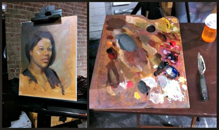 "Artist John Ulett utilizing the ""Zorn palette"""