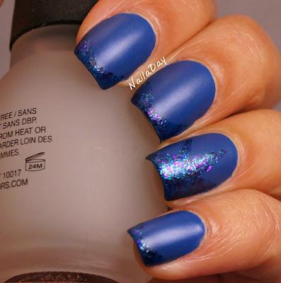 NailaDay: L'Oreal Notting Hills Blue mani mattified