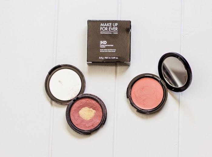 peachy pink HD blush, MUFE, natural cream blush