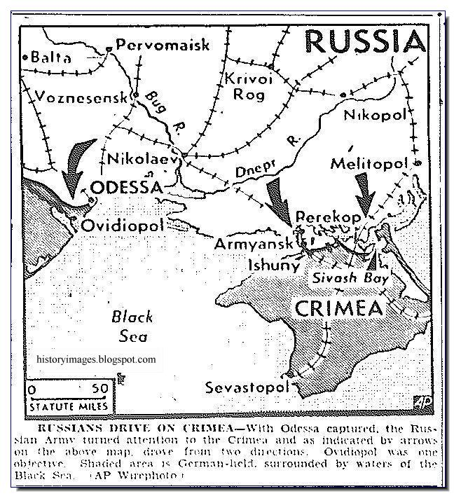 Red Army moves Crimea map