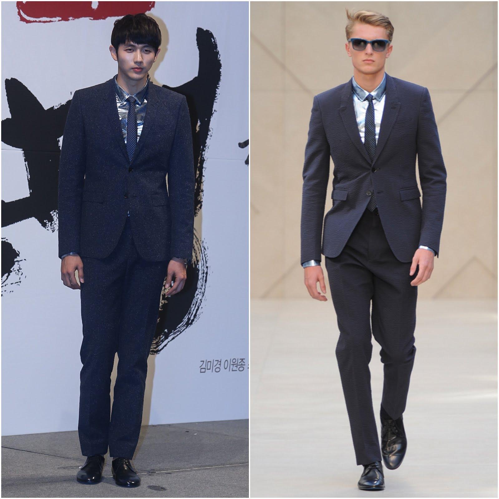 00O00 Menswear blog Im Seulong [任瑟雍] in Burberry Prorsum menswear -