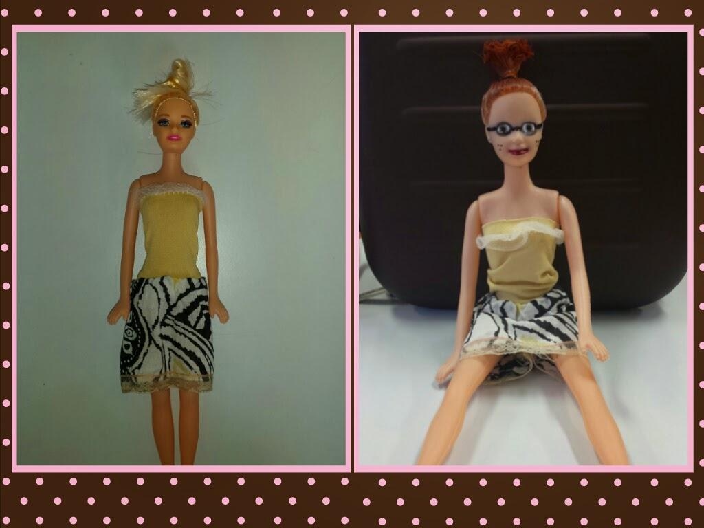 Barbie convertida en una chica real