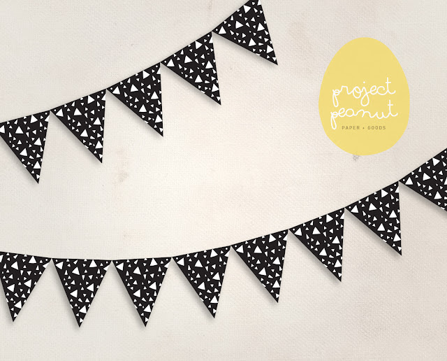 Monochromatic Hipster Printable Bunting Banners | projectpeanut.com.au